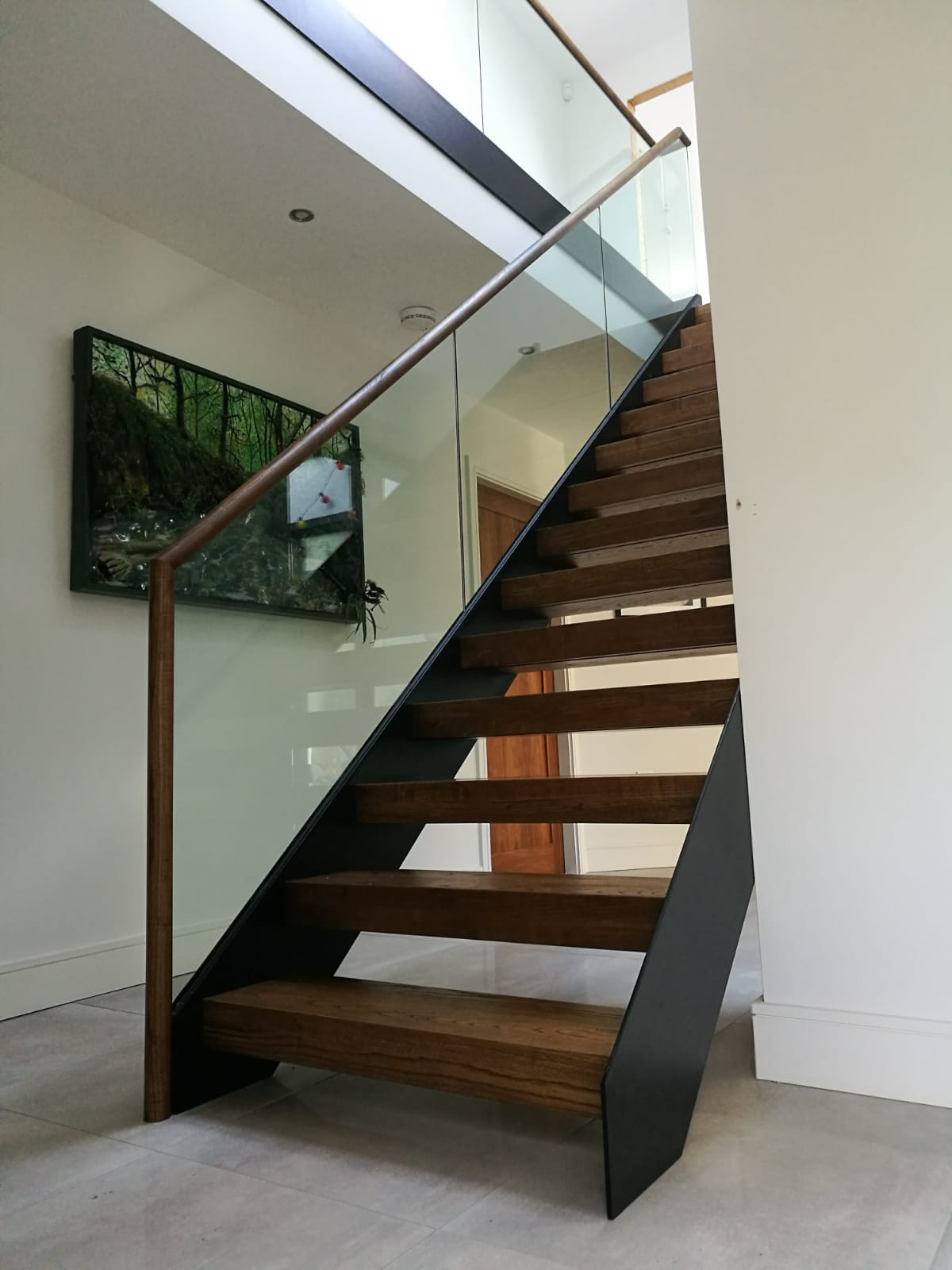 Steel, Glass & Wood Staircase
