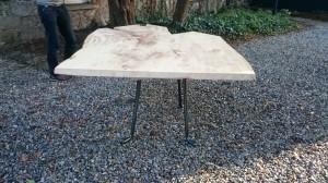 live edge sycamore table